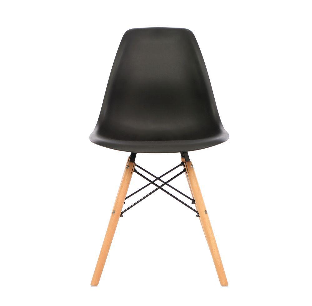 Kit 3 Cadeira Eiffel Sala Jantar Cozinha Escritório Eames Kelter Preta K-C202