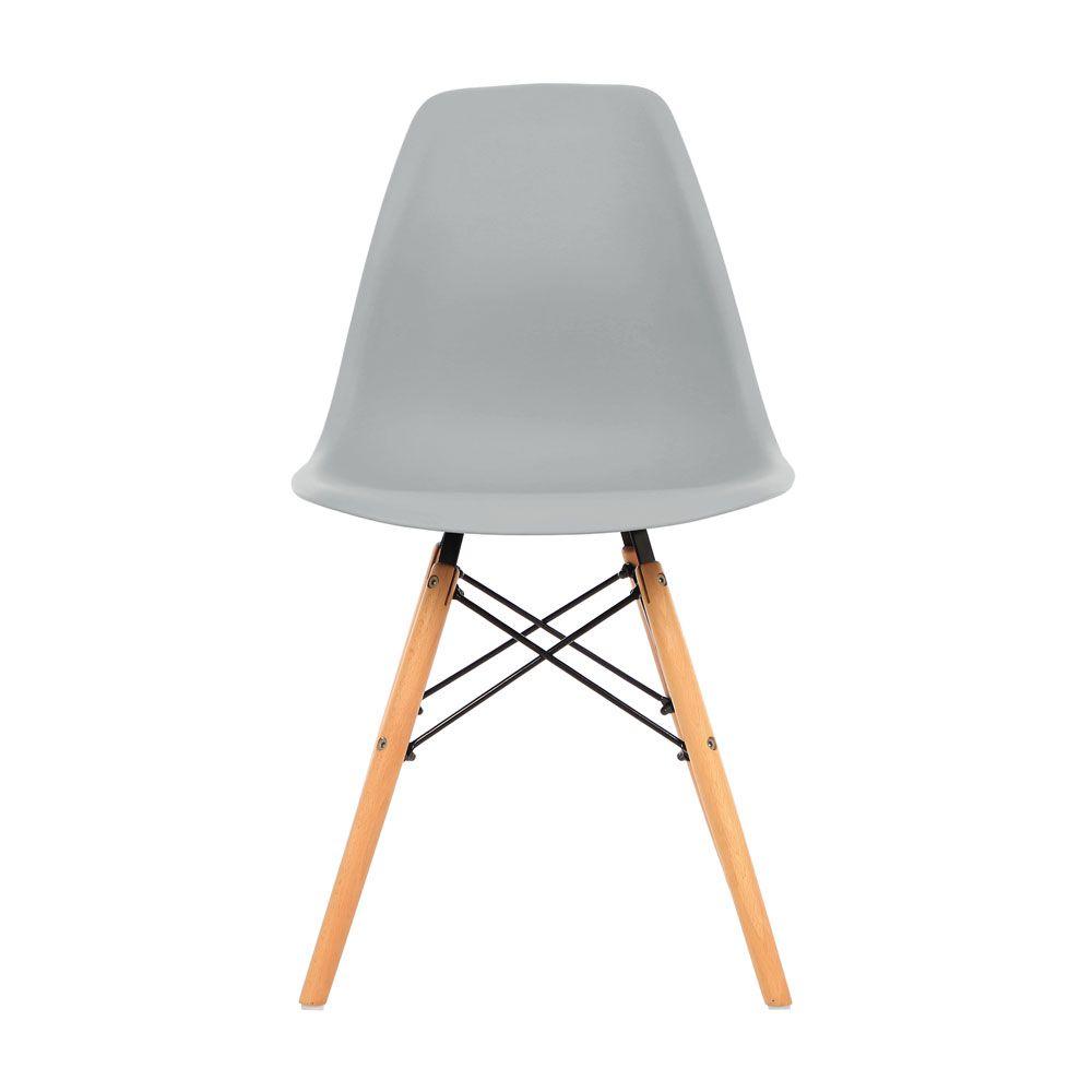 Kit 3 Cadeira Eiffel Sala Jantar Cozinha Escritório Eames Kelter Cinza Claro K-C207