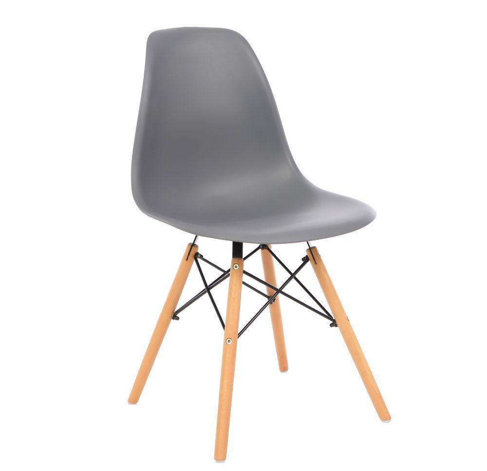 Kit 3 Cadeira Eiffel Sala Jantar Cozinha Escritório Eames Kelter Cinza Escuro K-C208
