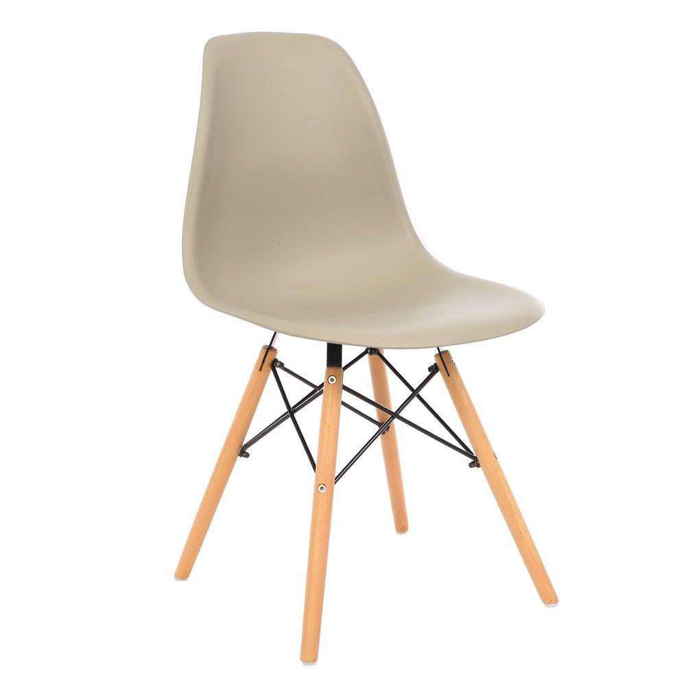 Kit 3 Cadeira Eiffel Sala Jantar Cozinha Escritório Eames Kelter Nude K-C209
