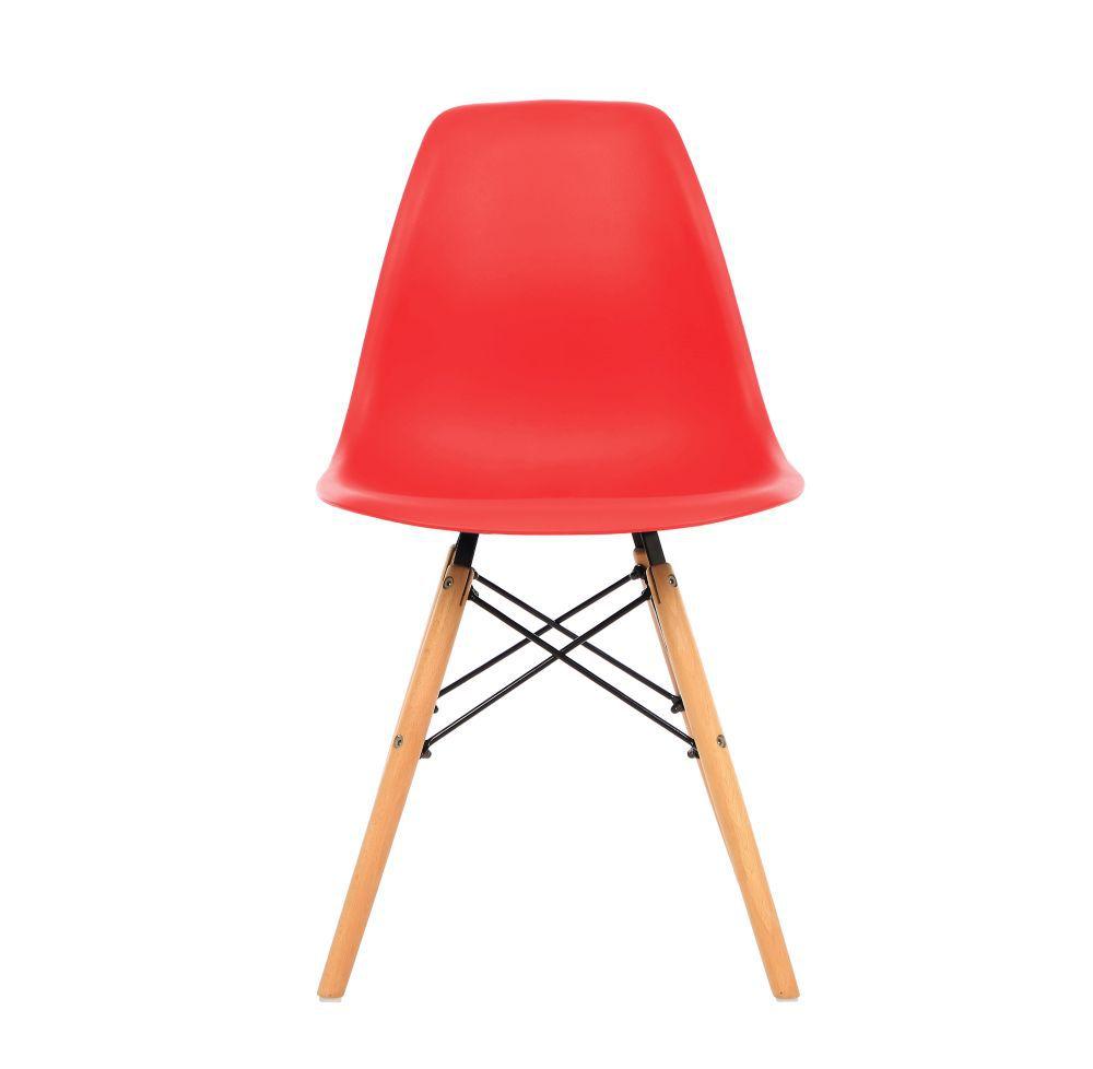 Kit 3 Cadeira Eiffel Sala Jantar Cozinha Escritório Eames Kelter Vermelha K-C206