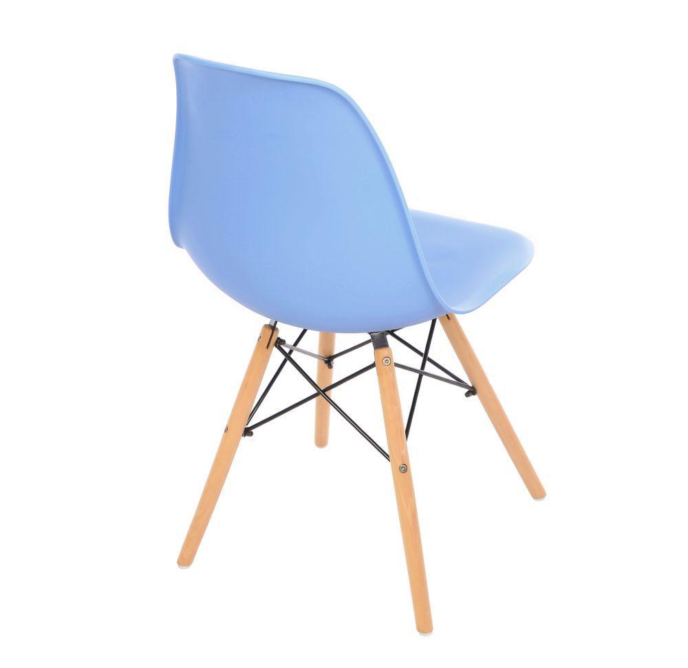 Kit 4 Cadeira Eiffel Sala Jantar Cozinha Escritório Eames Kelter Azul K-C203