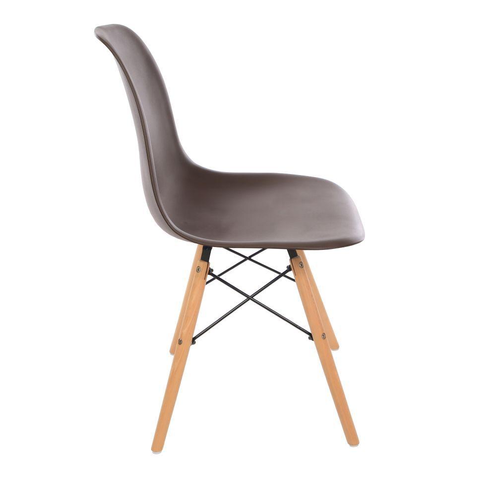 Kit 4 Cadeira Eiffel Sala Jantar Cozinha Escritório Eames Kelter Marrom K-C204
