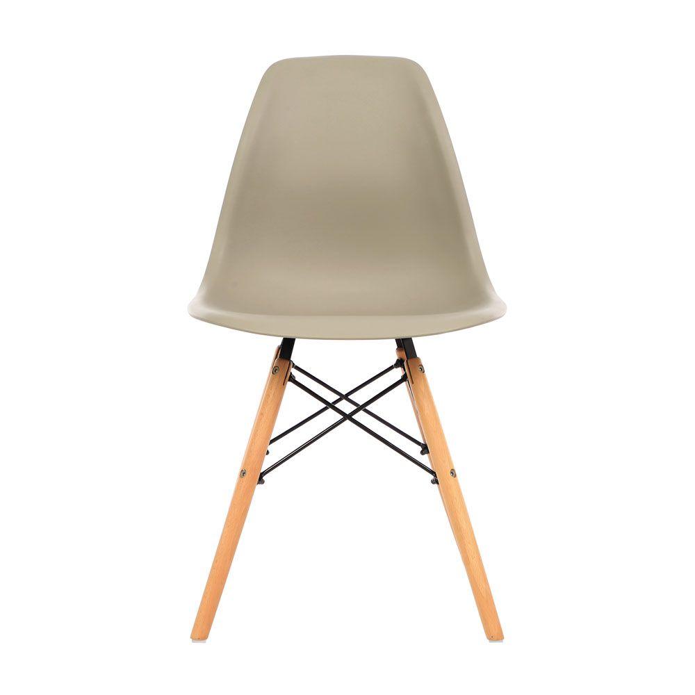 Kit 4 Cadeira Eiffel Sala Jantar Cozinha Escritório Eames Kelter Nude K-C209