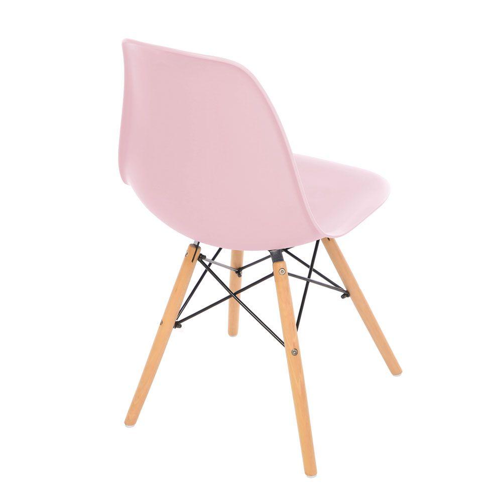 Kit 4 Cadeira Eiffel Sala Jantar Cozinha Escritório Eames Kelter Rosa K-C205
