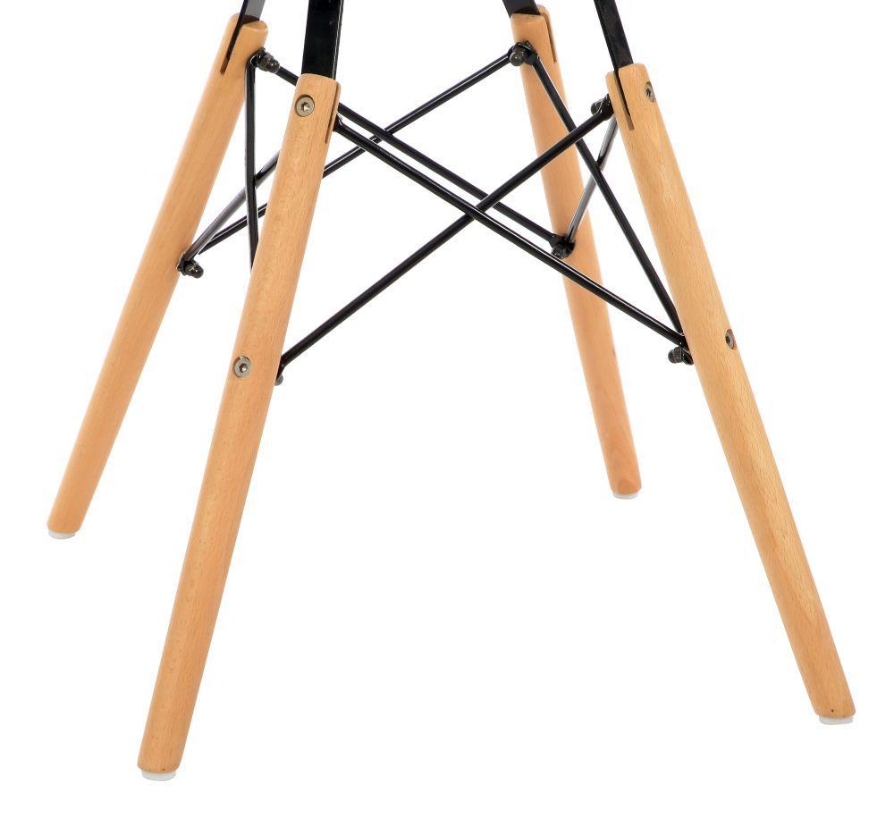 Kit 4 Cadeiras DKR DAW Eames Com Braços Eiffel Wood Kelter Cinza Escuro K-C238