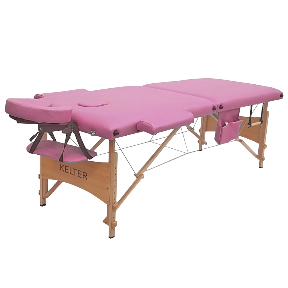 Maca Portátil Mesa De Massagem Dobrável Kelter M28 Rosa