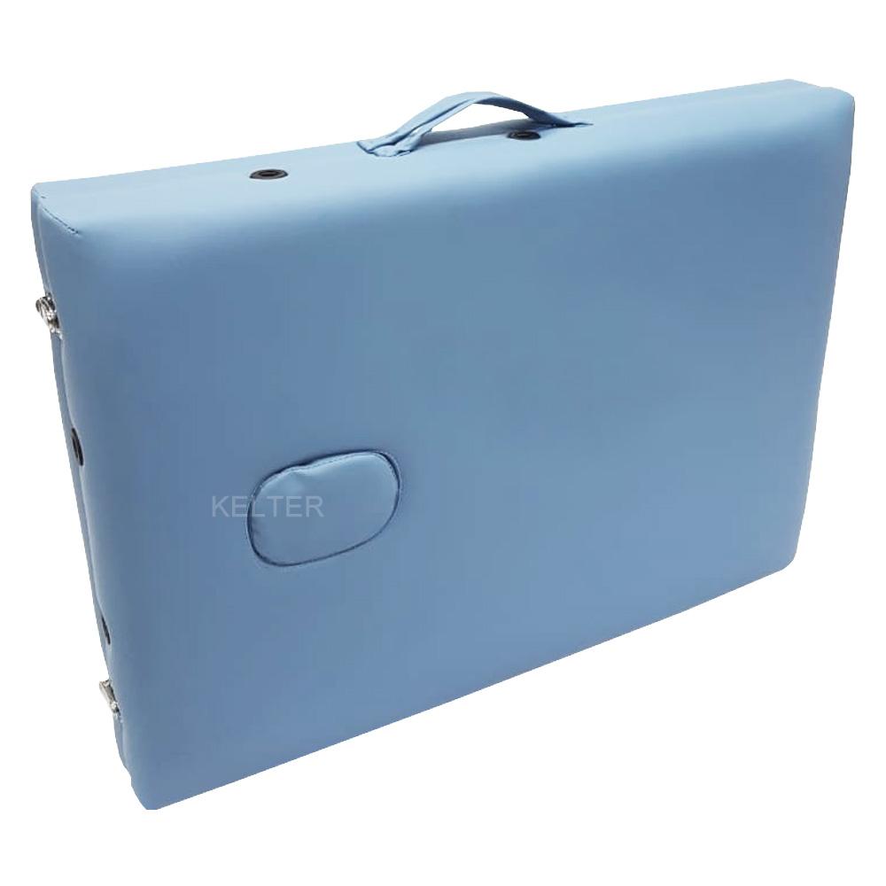 Maca Portátil De Madeira Regulável Kelter M33 Azul