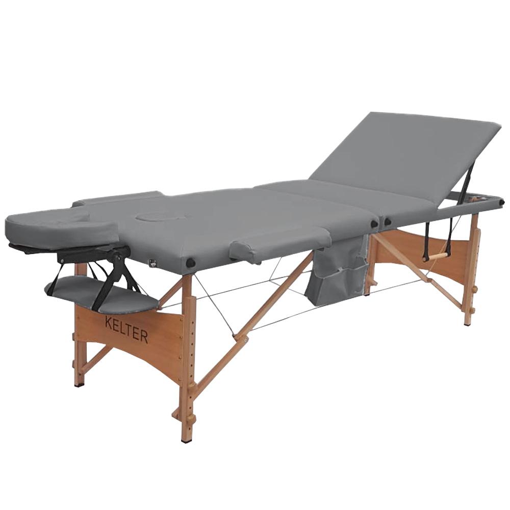 Maca Para Massagem Portátil Regulável Kelter M37 Cinza