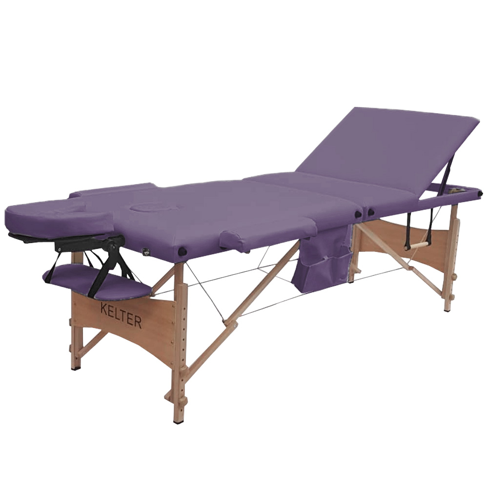 Maca Para Massagem Portátil Regulável Kelter M36 Roxa