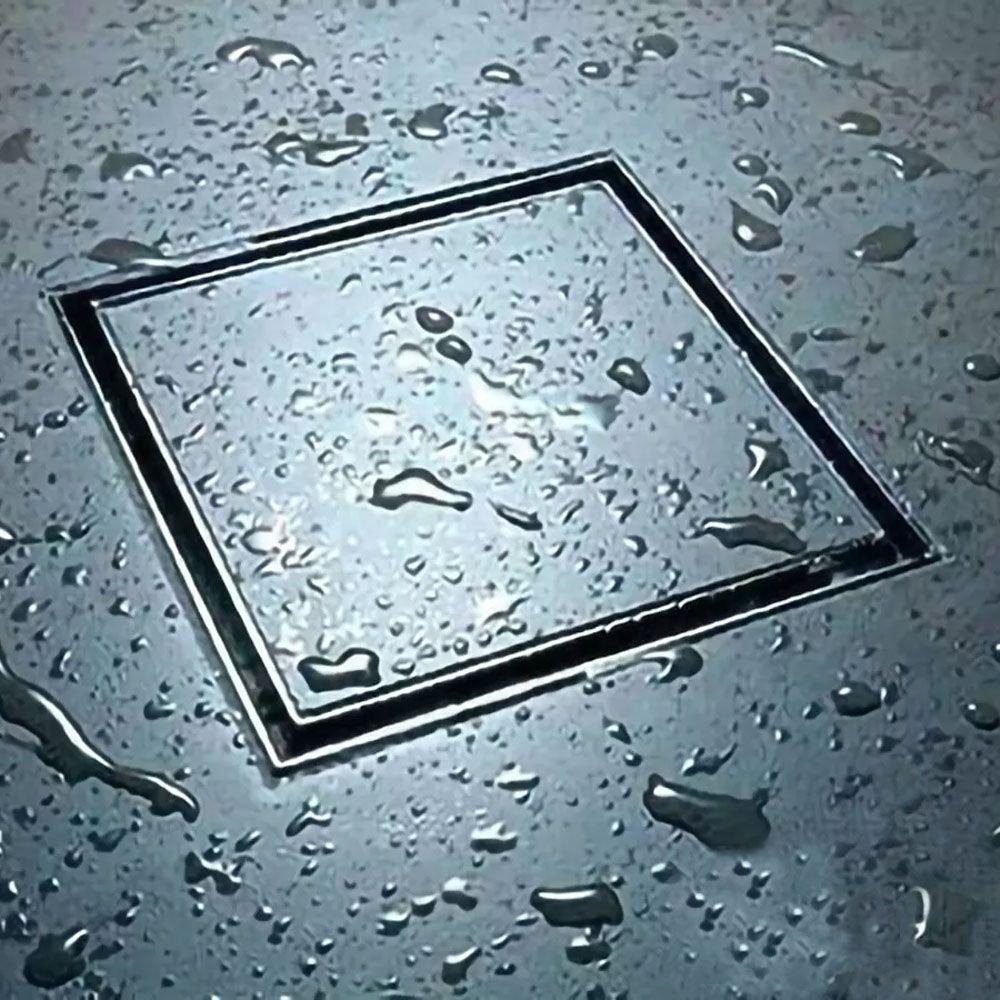Ralo Oculto Inox Invisível 15x15cm Kelter KR104