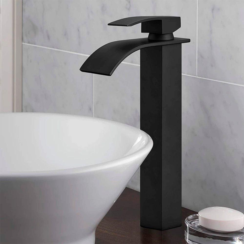 Torneira Cascata Monocomando Banheiro Alta Kelter KT36 Preta