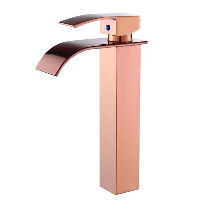 Torneira Cascata Monocomando Banheiro Alta Kelter KT38 Rose Gold