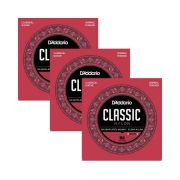 Box 3x Mais D'Addario para Violão Nylon EJ27N Transparente - NORMAL
