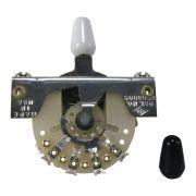 Chave Ernie Ball  3 POSICOES ESTILO STRAT COM PONTAS PRETA E BRANCA P06371
