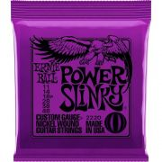 Encordoamento para Guitarra Ernie Ball .011 Power Slinky