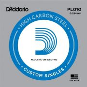 Corda Avulsa D'addario p/Guitarra .010 HIGH CARBON STEEL PL010
