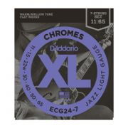 Encordoamento D'addario para Guitarra 7c  CHROMES -ECG24-7 - Jazz Light .011/.065