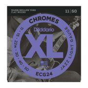 Encordoamento D'addario para Guitarra CHROMES ECG24 - JAZZ LIGHT .011/.050