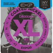 Encordoamento D'addario para Guitarra COATED EXP120 SUPER LIGHT .09/042