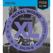 Encordoamento D'addario para Guitarra EXL115-B MEDIUM .011/049
