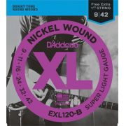 Encordoamento D'addario para Guitarra EXL120-B SUPER LIGHT .009/042