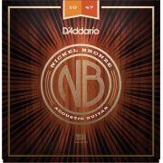 Encordoamento D'addario para Violão Aço NB-1047 NICKEL BRONZE