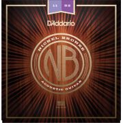 Encordoamento D'addario para Violão Aço NB-1152 NICKEL BRONZE
