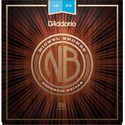 Encordoamento D'addario para Violão Aço NB-1253 NICKEL BRONZE