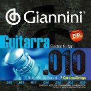 Encordoamento p/Guitarra Giannini .010 Nickel 7c. - GEEGST.710