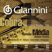 Encordoamento p/Viola Caipira Giannini Cobra Prata/Media - GESVM