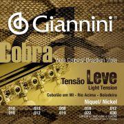 Encordoamento p/Viola Caipira Giannini Nickel Leve - GESVNL