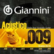 Encordoamento p/Violão Aço Giannini .009 BRONZE 65/35 - GESWAL