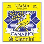 Encordoamento p/Violão Aço Giannini Canário c/Bolinha - GESWB