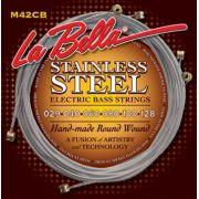 Encordoamento para Baixo 6c Labella 0.29 Stainless Steel  M42CB