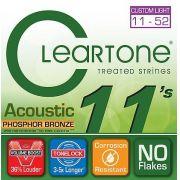 Encordoamento para Violão Aço .011 Cleartone Phosphor Bronze Custom Light