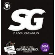 Encordoamento SG p/Guitarra 7c .009 Nickel