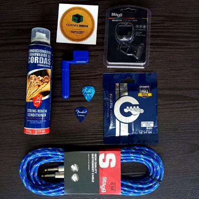 Box especial blue guitarra - kit promocional