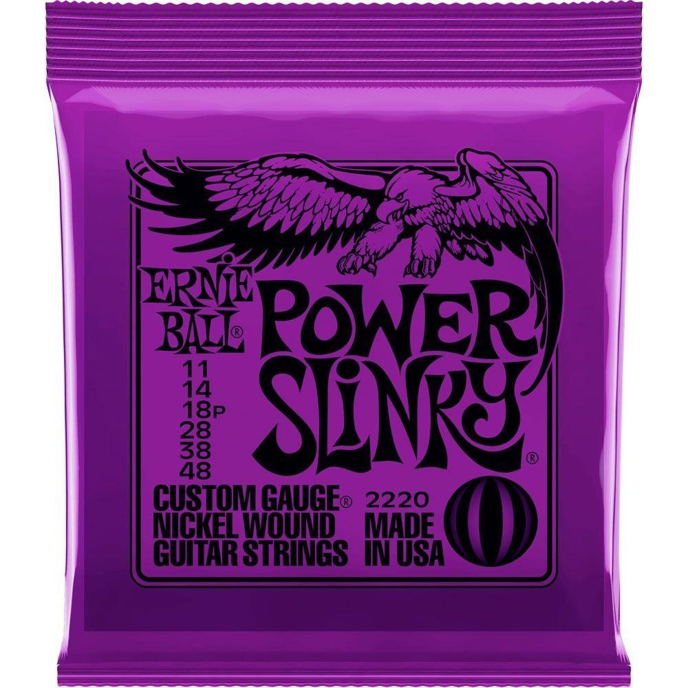 Encordoamento para Guitarra Ernie Ball .011 Power Slinky