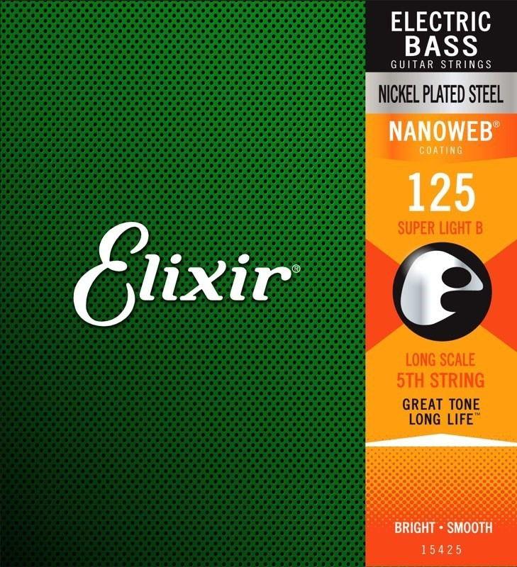 Corda Avulsa para Baixo 5a Elixir .125 SUPER LIGTH/L.S  - Nanoweb