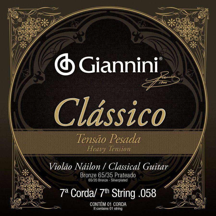 Cordas Avulsa Giannini Setima Corda p/Violão Nylon BRONZE 85/15 0.058 GENWPA.7