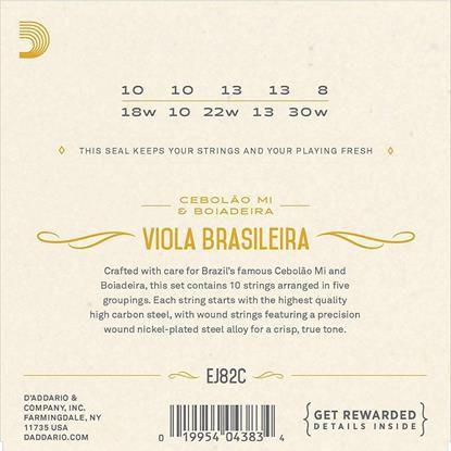 Encordoamento D'addario p/Viola Brasileria MI EJ82C