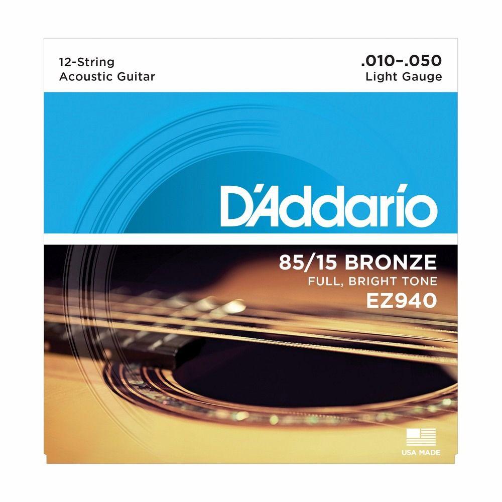 Encordoamento D'Addario p/Violão 12c EZ940 .010
