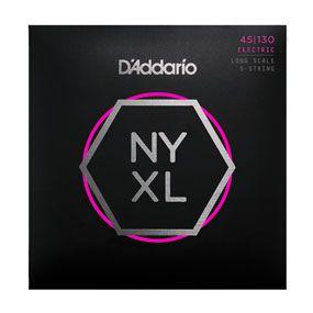 Encordoamento D'addario para Baixo 5c NYXL45130 - Longa Normal/ Leve .045-.130