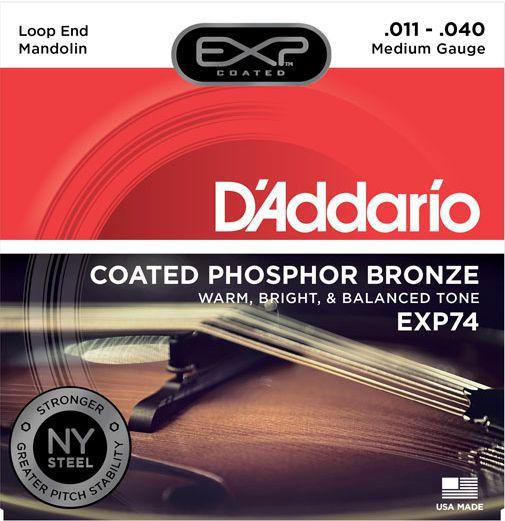 Encordoamento D'addario para Bandolim/Mandolim PH.BRONZE - EXP74 Médio