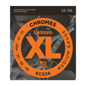 Encordoamento D'addario para Guitarra CHROMES ECG26 - MEDIO .013/.056