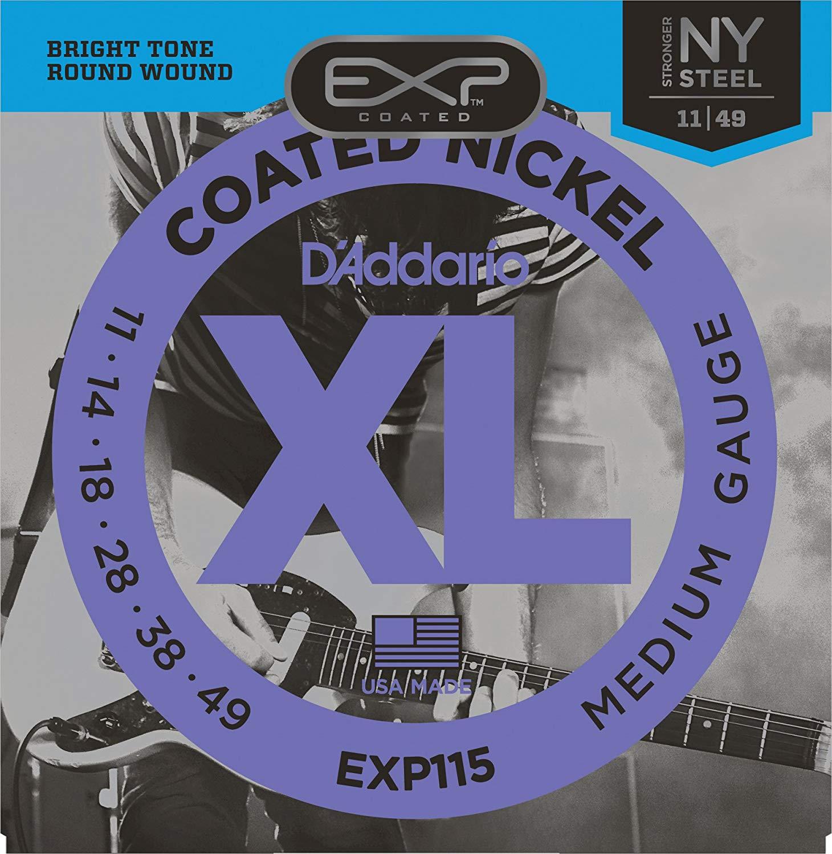 Encordoamento D'addario para Guitarra COATED EXP115  .011/.049