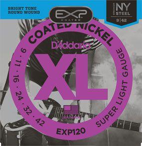 Encordoamento D'addario para Guitarra COATED EXP120 SUPER LIGHT .09/042