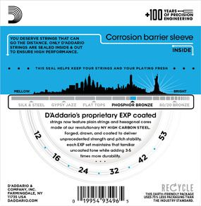 Encordoamento D'addario para Violão Aço COATED PHOSPHOR BRONZE EXP16 - LIGHT .012/053