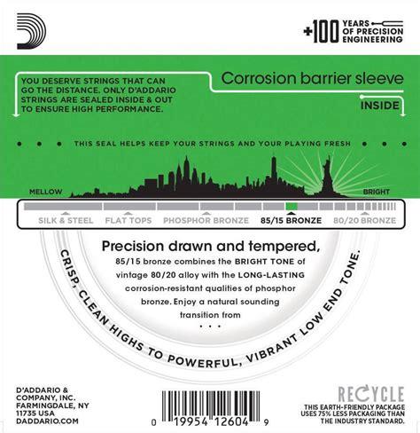 Encordoamento D'addario para Violão Aço EZ890-B SUPER LIGHT 09/45